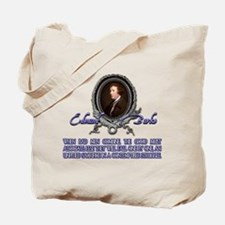 Edmund Burke: When Bad Men Co Tote Bag
