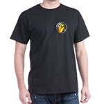 Black T-Shirt with shield on pocket