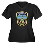 Willowick Police Women's Plus Size V-Neck Dark T-S