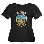 Willowick Police Women's Plus Size Scoop Neck Dark