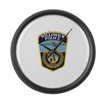 Willowick Police Large Wall Clock