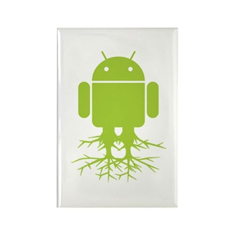 Rooted Android Rectangle Magnet