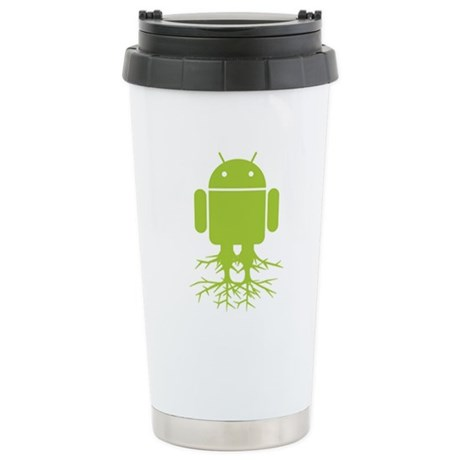 Rooted Android Stainless Steel Travel Mug