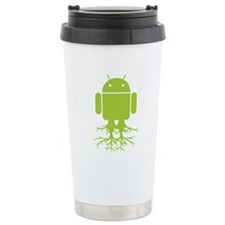 Rooted Android Travel Coffee Mug