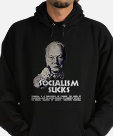 Socialism Sucks with Quote Hoodie