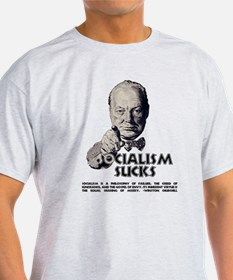 Socialism Sucks with Quote T-Shirt