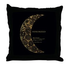 Midirs Brooch Throw Pillow