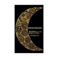 Midirs Brooch Sticker (Black Rectangular)