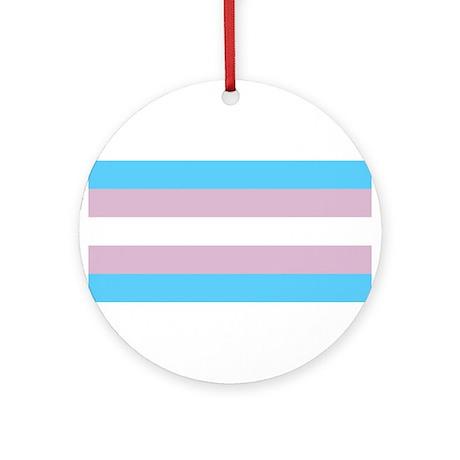 Trans Pride Ornament (Round)
