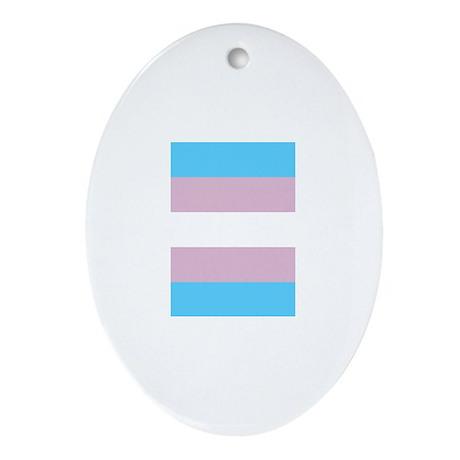 Trans Pride Ornament (Oval)