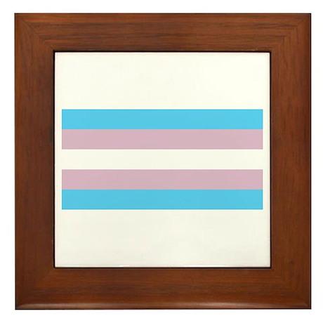 Trans Pride Framed Tile