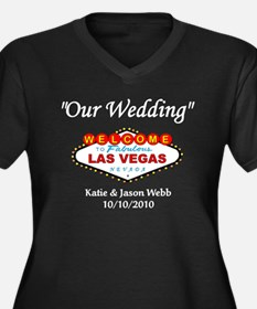 Our Wedding Personalized Women's Plus Size V-Neck