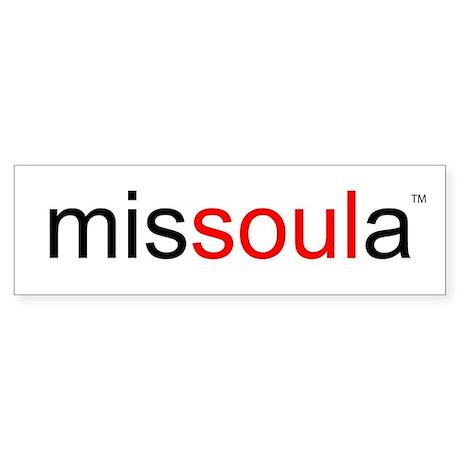 soulinmissoula Bumper Sticker