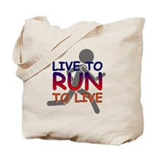 Live to Run Tote Bag