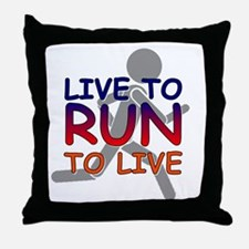 Live to Run Throw Pillow