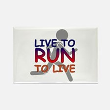 Live to Run Rectangle Magnet