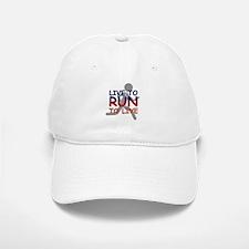 Live to Run Baseball Baseball Cap