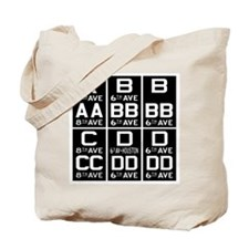 Route Letter Tote Bag
