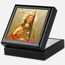 St. Rocco Keepsake Box- Rays from heaven Design