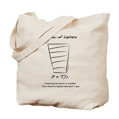 Law of Laplace Tote Bag