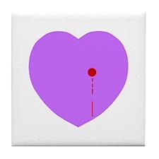 Bleeding Heart Tile Coaster