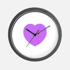 Bleeding Heart Wall Clock