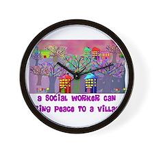 Social Worker III Wall Clock
