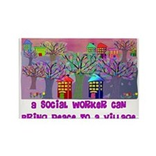 Social Worker III Rectangle Magnet