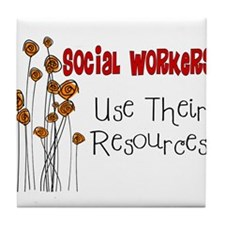 Social Worker III Tile Coaster