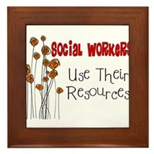 Social Worker III Framed Tile