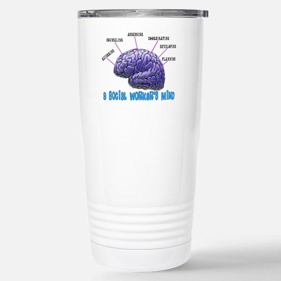 Social Worker III Stainless Steel Travel Mug