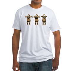See No Evil Monkey Fitted T-Shirt