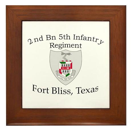 2nd Bn 5th Infantry Framed Tile