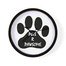PETS R PAWSOME Wall Clock