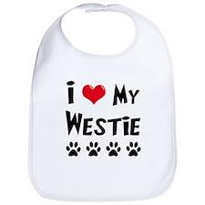 I Love My Westie Bib