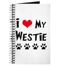 I Love My Westie Journal