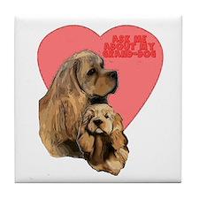 Cocker Spaniel grand-dog Tile Coaster