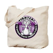 Cystic-Fibrosis Cat Fighter Tote Bag