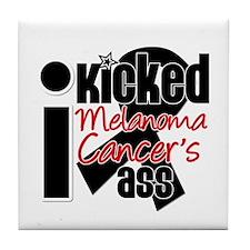 IKickedMelanomaAss Tile Coaster