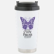 Cystic-Fibrosis Butterfly 3 Travel Mug