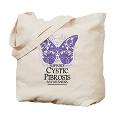 Cystic-Fibrosis Butterfly 3 Tote Bag