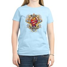 Cystic-Fibrosis Cross & Heart T-Shirt