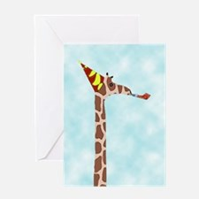 party giraffe Birthday Card