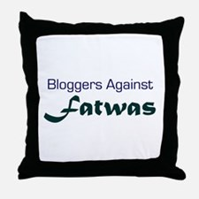 Bloggers Against Fatwas Throw Pillow