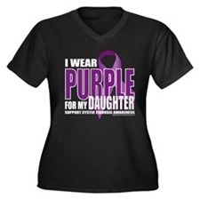Cystic Fibrosis Purple For My Women's Plus Size V-