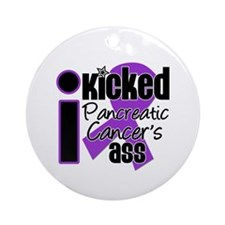 IKickedPancreaticCancerAss Ornament (Round)