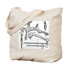 Native American Weapons Tote Bag