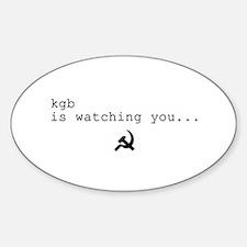 Funny Russian Sticker (Oval)