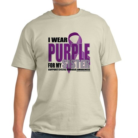 Cystic Fibrosis Purple For My Light T-Shirt