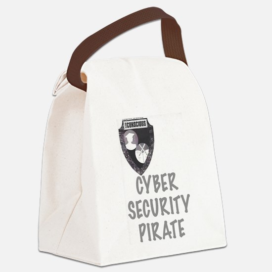 Cyber Security Pirate Canvas Lunch Bag